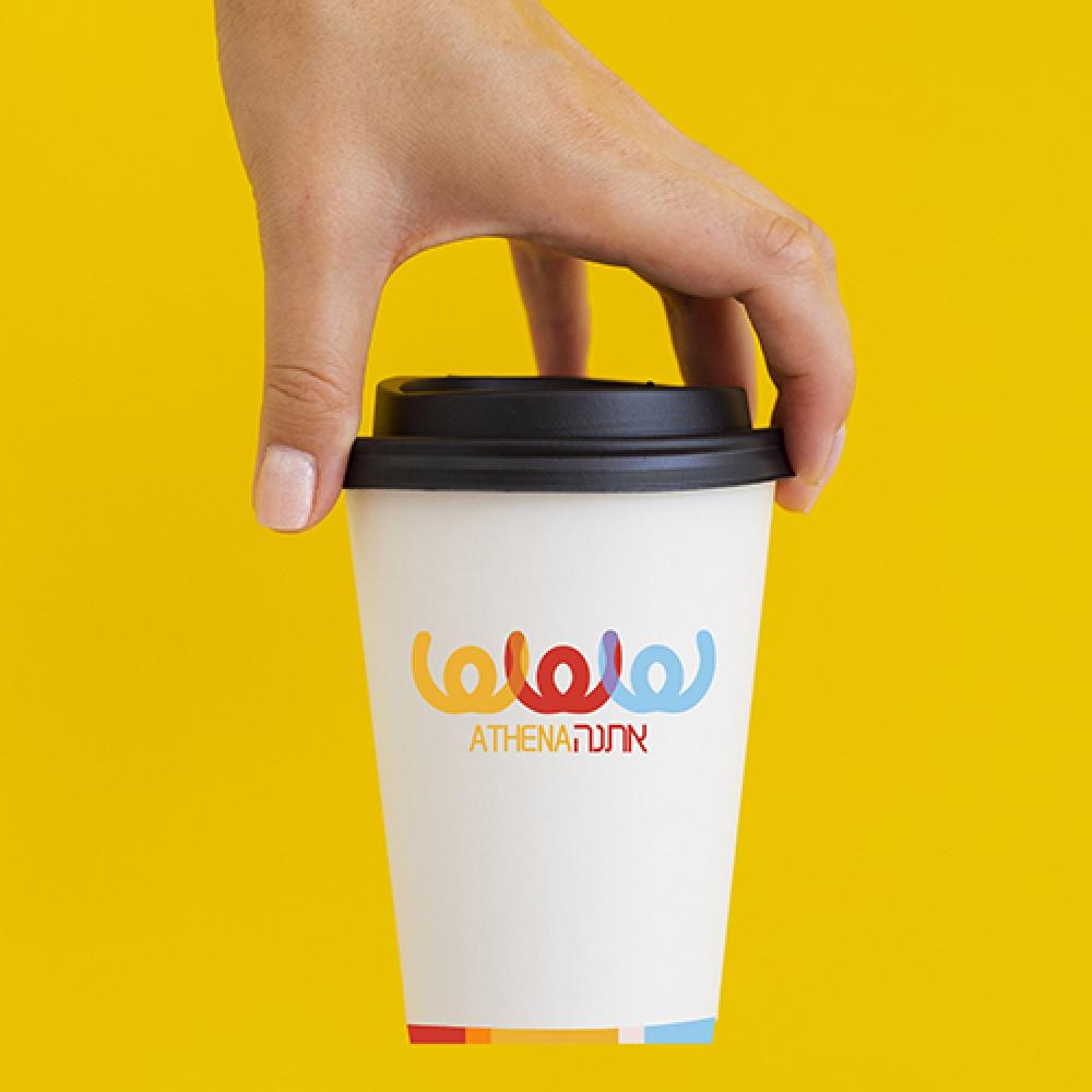 עיצוב כוס ממותגת לאתנה
