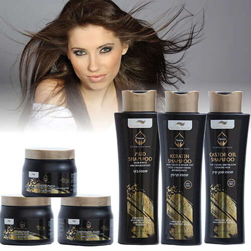 עיצוב מוצרי שיער של ים המלח