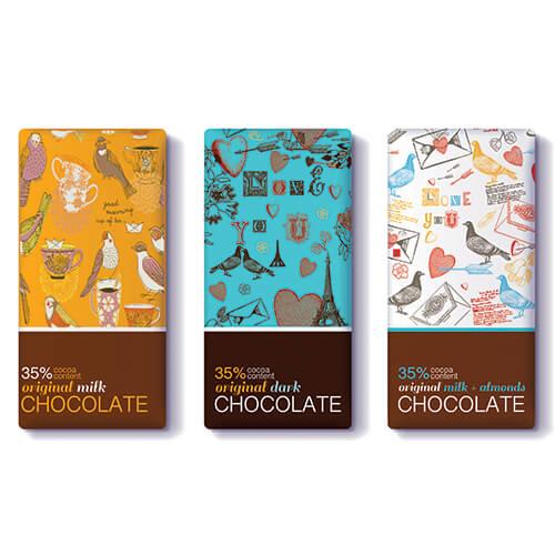 עיצוב אריזות לשוקולד