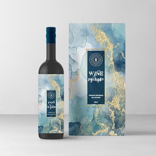 עיצוב מארז יין אדום