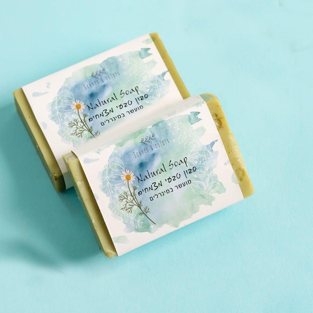 עיצוב מארזים ותוויות לסבון טבעי