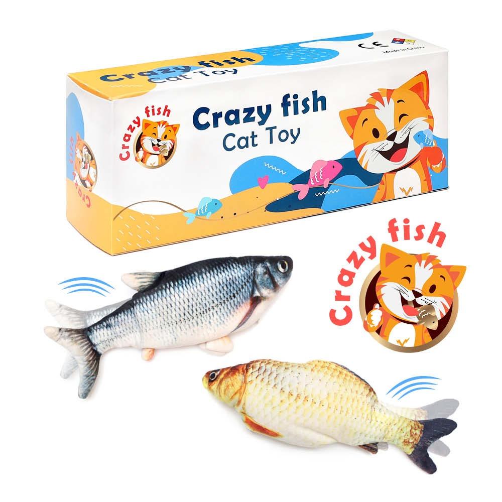 עיצוב ומיתוג מארז משחק לחתולים - CRAZY FISH